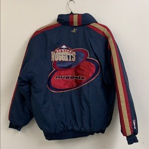Denver Nuggets Men's Puffy Coat Size L